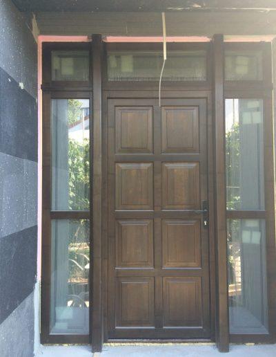Usa exterior, lemn Okume, lemn stratificat
